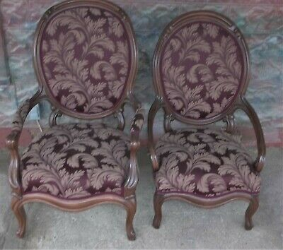 2-Antique Palor Chair's A Lady And Man's From Early 1900's