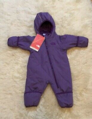 3aeccc96a28f THE NORTH FACE bunting oso glacier fleece 1 piece suit baby 6 -12 ...