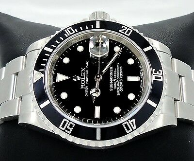04dad3eb12d3 Rolex Submariner 16610 SS Black Dial Oyster Date Men s Watch  MINT  CONDITION