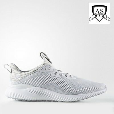the best attitude 0823b e95ce Adidas Alpha Bounce 1 Men Running Shoes White Grey BW0541 Size 8.5 NEW
