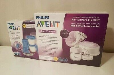 Sacaleches Philips Avent electrico SCF618/10 + 10 Tarritos (100% NUEVO/NEW)