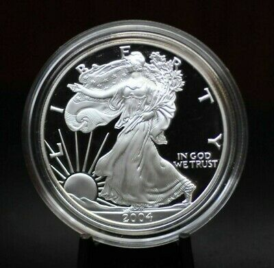 2004-W Proof Silver American Eagle in Capsule [03DUD]