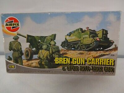 Airfix Bren Gun Carrier & 6 Pdr Anti Tank Gun. Sealed Parts.