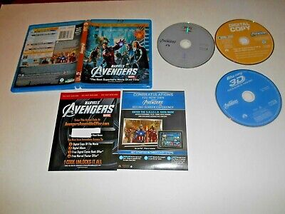 Marvel's The Avengers: 3-Disc Blu-ray 3D 2D + DVD + Dig Copy? ] Read* Fast Ship