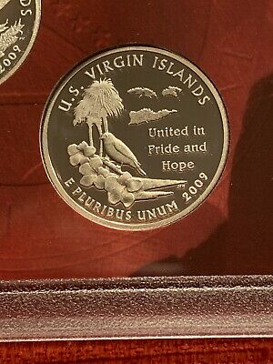 Silver 2009-S Virgin Islands Proof Deep Cameo Quarter Combined Shipping