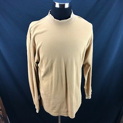 2c4c60f5 Mens Architect Long Sleeve Yellow Mock Neck Shirt Size L Made In USA