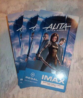 ALITA: BATTLE ANGEL IMAX Collectible Ticket-Movie Card