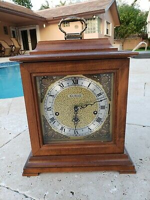 SETH THOMAS U.S.A. WESTMINSTER CHIME 8 DAY BRACKET CLOCK MODEL 1309 - For Parts