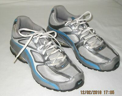 209e3d31bd3 Nike Reax Run 5 Women s Running Shoe Size 7.5 White Silver Blue 407987-