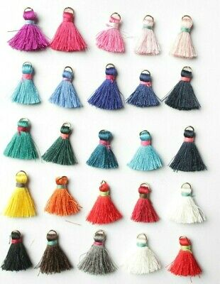 10 Craft Tassels 25mm Mixed Color Curtain Earrings Art Scrapbooking Sewing
