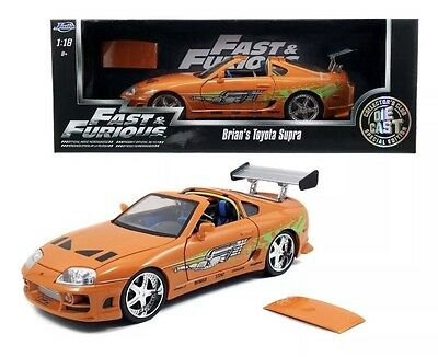 Toyota Supra Weiss Brian´s Paul Walker The Fast and the Furious 1//18 Jada Mode..