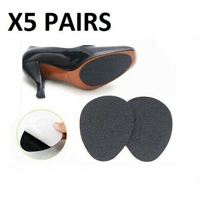 5 Pairs Self Adhesive Anti Slip Shoe Grip Pads Non-slip Rubber Sole Protect Soft