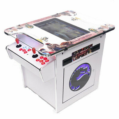 White Arcade Machine Tabletop Video Game Upright Cocktail Pinball Pool Brand New