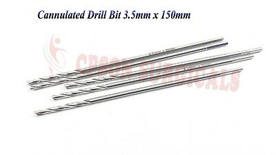 Surgical Orthopedic 3.5mm Cannulated Drill bit  Lot of 5 pcs