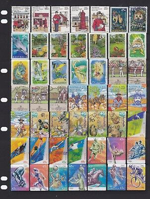 100 Australia Stamps All Different Used Bulk Collection Lot Off Paper Free Post
