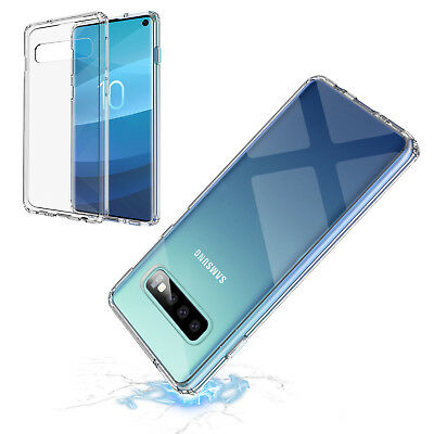 For Samsung Galaxy S10 / S10+ Plus Crystal Clear Ultra Slim TPU Phone Case Cover