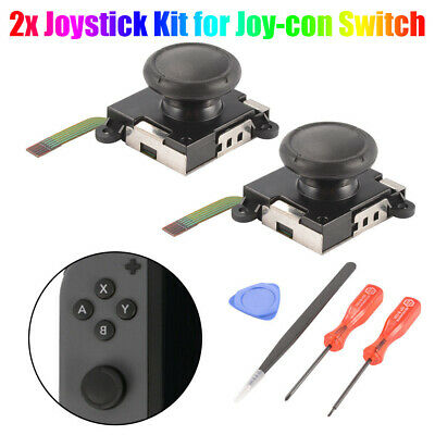 2x Joystick Kit for Joy-con Switch Nintendo Analog Thumbstick Stick Cap AC1494