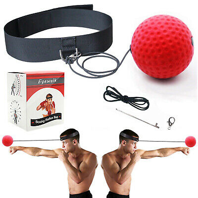 Boxing Training Fight Ball Reflex Speed Punch Combat Muscle Exercise US STOCK