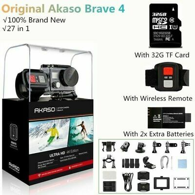 Akaso Brave 4 Action Camera 20MP WIFI Waterproof 4K HD Sport DV Camcorder+32G SD