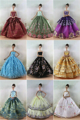 10Pcs Baby Doll Party Dress Clothes Baby Kids Toys Gift Dressing Up Random