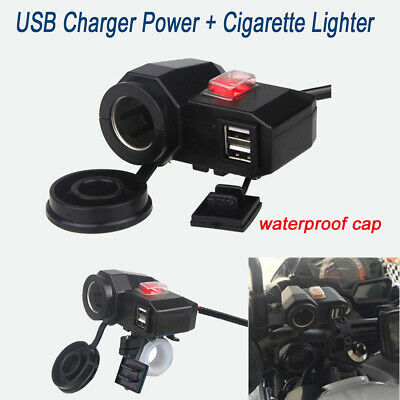 USB Charger Cigarette Lighter Socket for Honda VTX1300 R C S T VTX1800 C F N R
