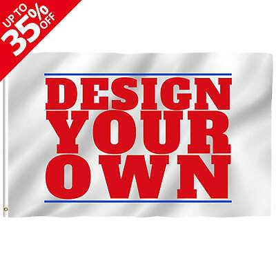 Anley Double Sided Custom Flag 3x5 Ft Print Your Own Design Customized Two Side