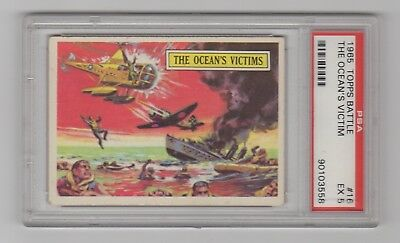 1965 Topps Battle Cards #16 * The Ocean's Victims * PSA 5