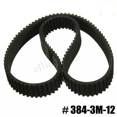 Replacement Drive Belt Kit HTD 384-3M-12 Electric E Scooter Rubber 3x12x384mm