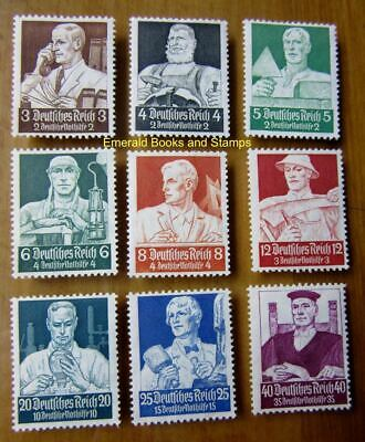 EBS Germany 1934 Nothilfe - Occupations - Berufsstände - Michel 556-564 MH* (a)