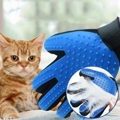 UK Silicone Pet Safe Grooming Glove For Cats Dogs hair Brush Comb De-shedding