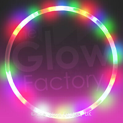 Flash LED Hoops - Light Up Hoop with Colourful Flashing Lights lot