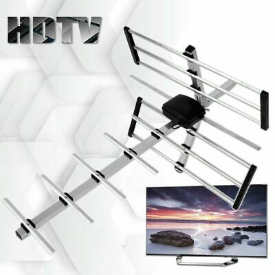 1080P 100 Mile HDTV Outdoor Amplified HD TV Antenna Digital UHF Rotate 360 ° LM