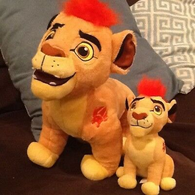 DISNEY LOT of 2! The Lion Guard  Kion Plush Large and Small Lot of 2! VGC!