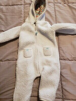 0e59bfe80 CARTER S SNOWSUIT BUNTING Girl s Infant Baby White Gray Size 3-6 ...