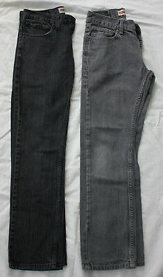 ee73e2914 Levis 511 skinny fit black and gray jeans lot of 2 boys size 14 27 x