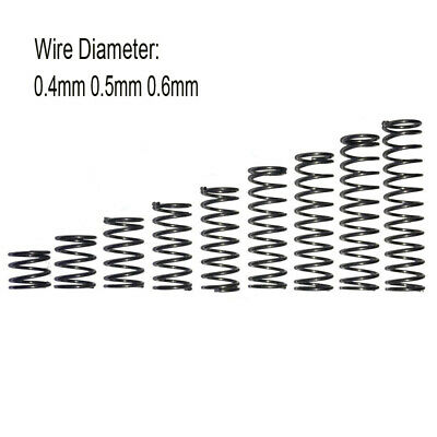 10pcs Small Compression Springs Pressure Spring Wire Diameter 0.4mm 0.5mm 0.6mm