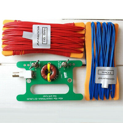 Antenna Circuit Board+cable 40m-10m UNUNTENNA 9:1 BNC Interface Wire Portable