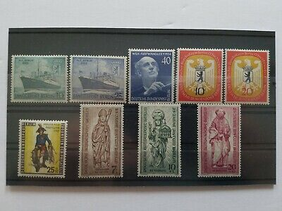 Germany BERLIN Complete Year 1955 Stamp Set Mint Never Hinged MNH German Stamps