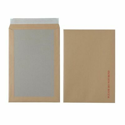 Envelopes C4 115gsm Brown Plain Peel and Seal 125 Pieces