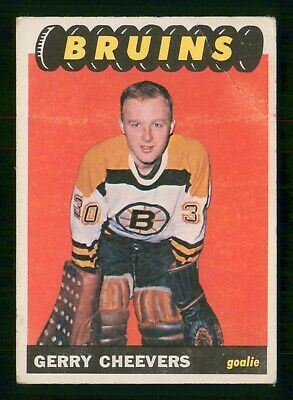 Gerry Cheevers Rc 1965-66 Topps 1965-66 No 31 Vg+  27446