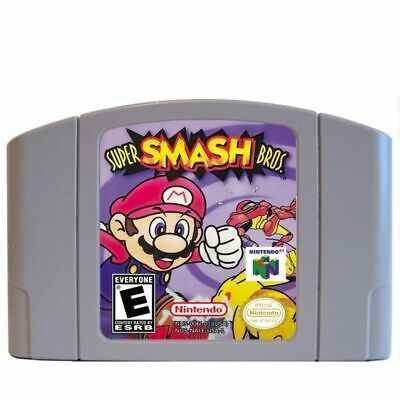 Super Smash Bros For Nintendo US Version 64 bit Game Cartridge For N64 Console