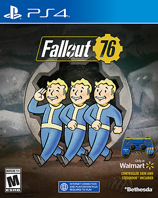 Fallout 76 for Playstation 4 with Steelbook Case and Controller Skin - VG