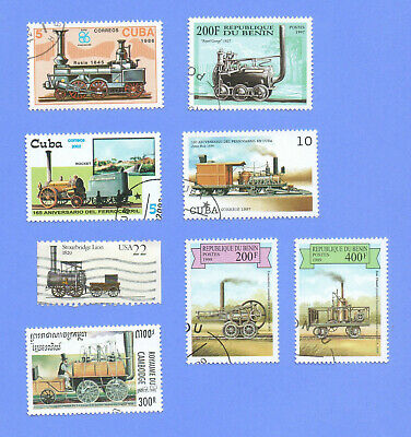 Earliest Trains Stamp Packets, all different