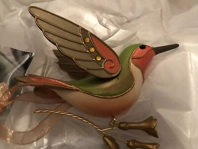 2018 Hallmark Keepsake Ornament Hummingbird Surprise GOLD NEW