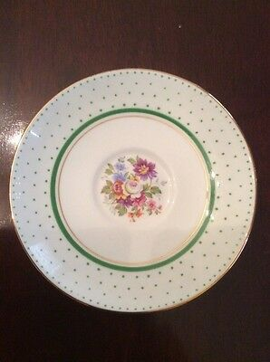 "Colclough Bone China Longton England 5.25"" Floral Saucer Gold Rimmed"