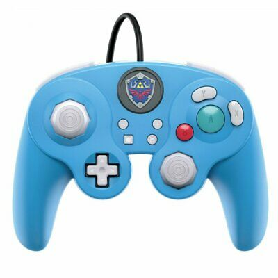 PDP Nintendo Switch Fight Pad Pro Wired Controller Blue Legend of Zelda Edition