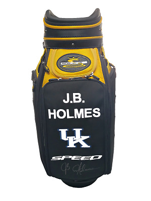 J.b. Holmes Cobra Golf Cart Bag University Kentucky Authentic With Autograph