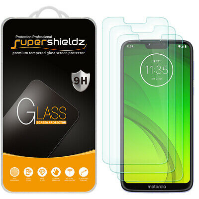 [3-Pack] Supershieldz Tempered Glass Screen Protector for Motorola Moto G7 Power