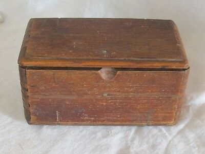 Early Antique FOLDING WOOD SEWING PUZZLE BOX