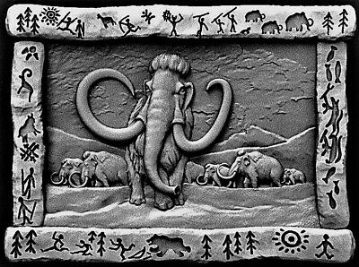 Mammoth relief 3d model relief for cnc in STL file format